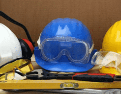 Hard hat and other protective clothing